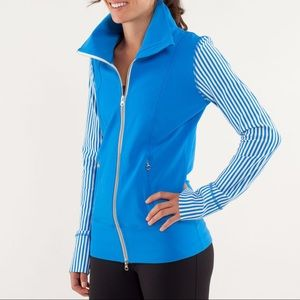 Lululemon Daily Yoga Jacket Blue/Classic Stripe